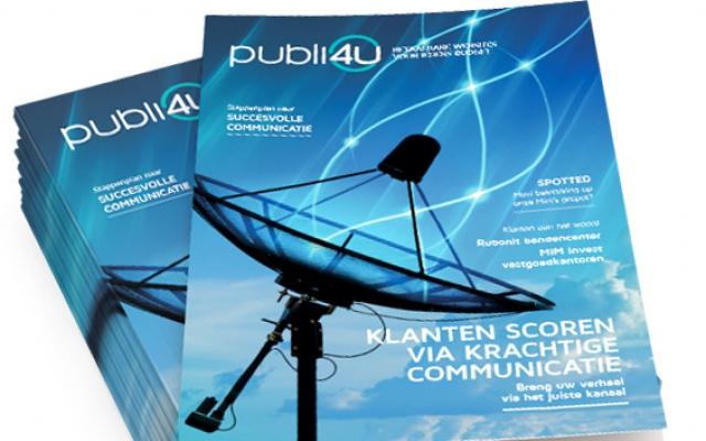 Magazine online en offline communicatie