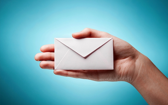 Een originele enveloppe trekt de aandacht