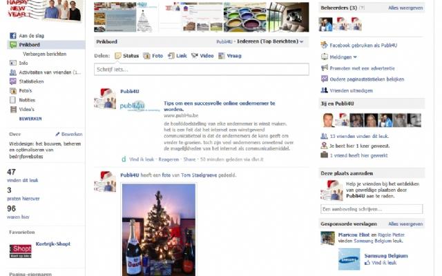 Nieuwe praten over indicator voor Facebook