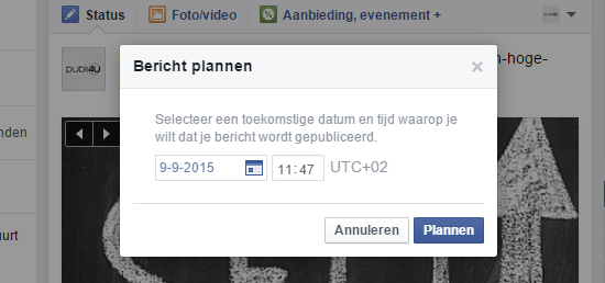 FB post plannen
