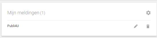 Meldingen op Google Alerts
