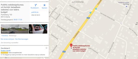 Lokale vindbaarheid met Google Maps