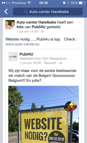 Facebook getuigenis Auto Center