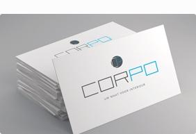 Visitekaartjes voor Corpo Interieur
