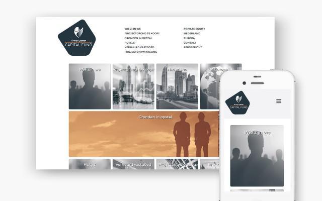 Website op maat voor Groep Caenen Capital Fund