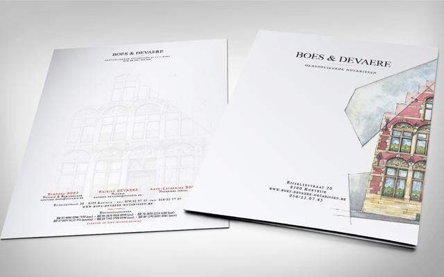Briefpapier voor Notaris Boes & Devaere