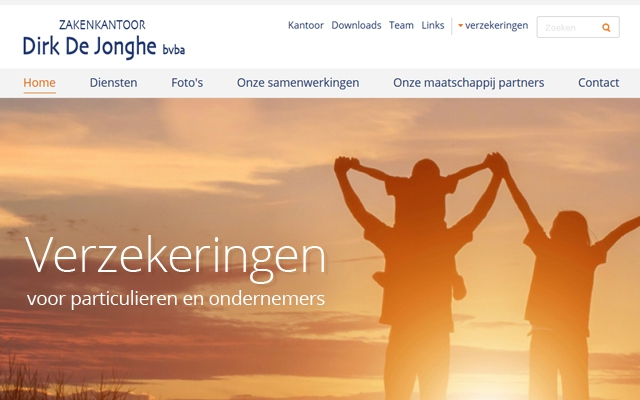Nieuwe responsive website voor Zakenkantoor Dirk De Jonghe