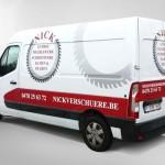 Belettering camionette Nick Verschuere