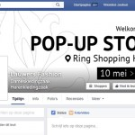 Facebook campagne Pop-up Store in Ring Shopping te Kuurne
