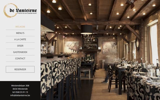 Gloednieuwe website voor Restaurant De Lanteirne uit Westende
