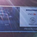 Parkeerbordjes en spandoek voor Bakkerij Luka en Ing Marke