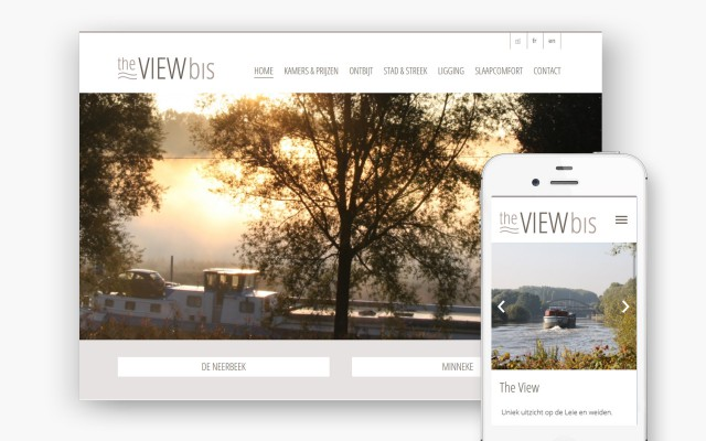 Pro pakket website voor b&b The View Bis