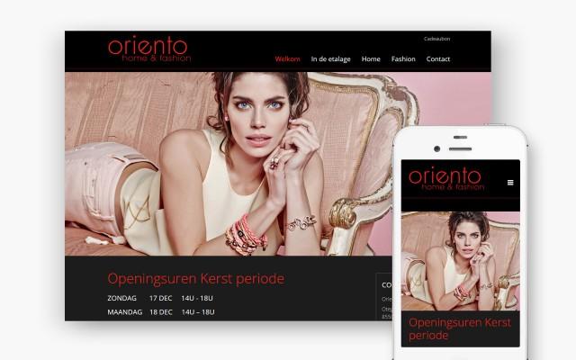 Pro pakket website voor Oriento uit Zwevegem