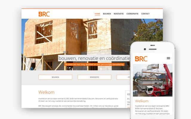 Pro pakket website van 990 euro voor Brc Bvba uit Marke
