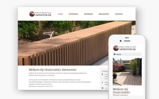 Pro pakket website van 990 euro voor Houtcreaties Vantomme