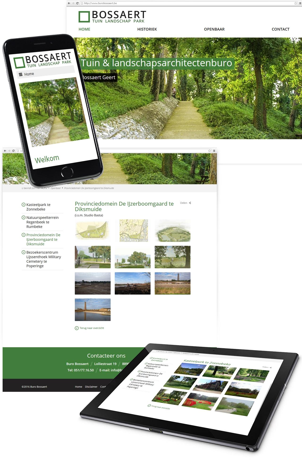 Pro pakket website voor buro bossaert uit moorslede for Buro pro angouleme