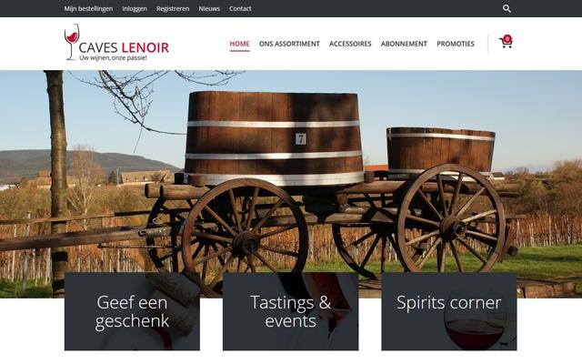 Webshop voor wijnhandel Caves Lenoir uit Marke