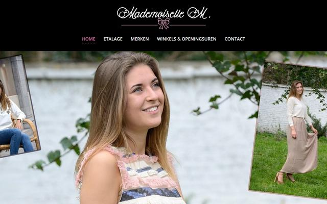 Pro pakket website voor Mademoiselle M