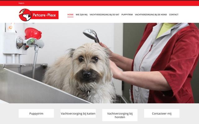Pro pakket website voor Petcare Place uit Zwevegem