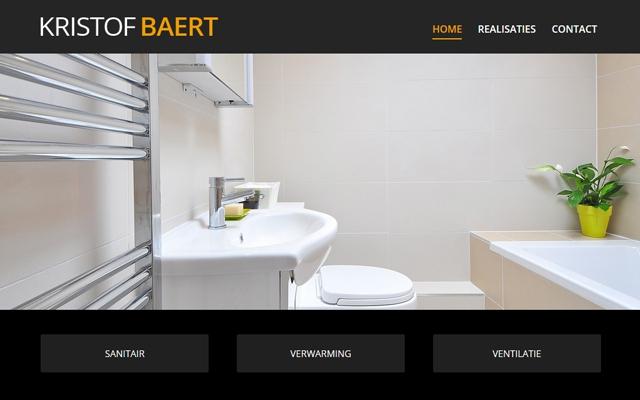 Pro pakket site voor Sanitair Kristof Baert