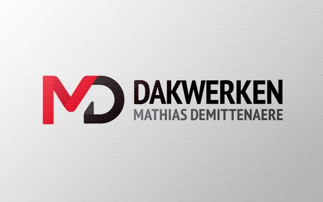 Logo ontwerp voor dakwerken Demittenaere Mathias