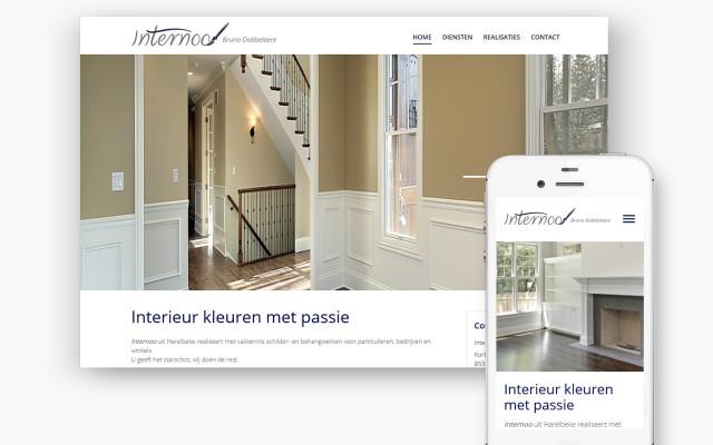 Plus pakket website voor schilder Internoo uit Harelbeke