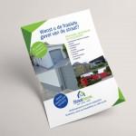 Folder ontwerp voor Straalnieuw uit Kortrijk