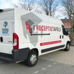Belettering camionette Receptietafels Huren