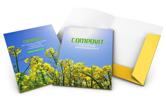 Presentatiemappen voor Compovit uit Rollegem en Veurne