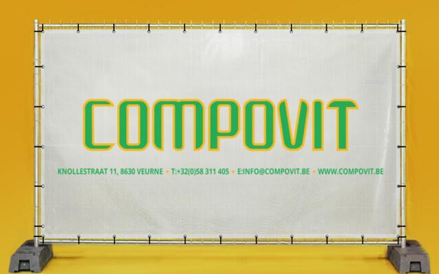 Werfdoeken voor Compovit uit Rollegem en Veurne