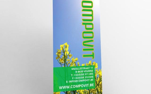 Roll-up banners voor Compovit uit Rollegem en Veurne