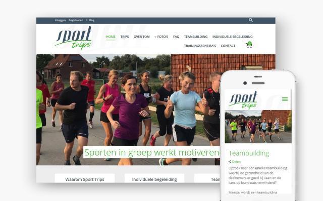 Pro pakket webwinkel met online reservatie voor Sport Trips uit Kortrijk