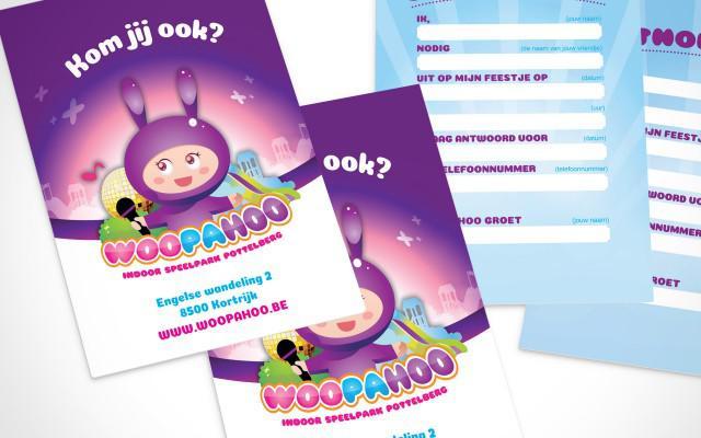 Verjaardagsuitnodigingen ontwerpen en drukken voor Woopahoo uit Kortrijk