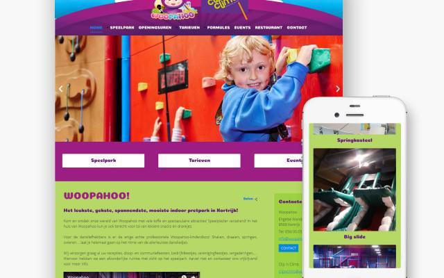 Pro pakket website voor Woopahoo uit Kortrijk
