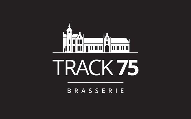 Grafisch ontwerp logo voor Brasserie Track 75 uit Harelbeke
