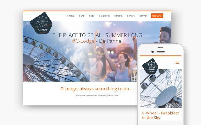 Pro pakket website voor C-Lodge in De Panne
