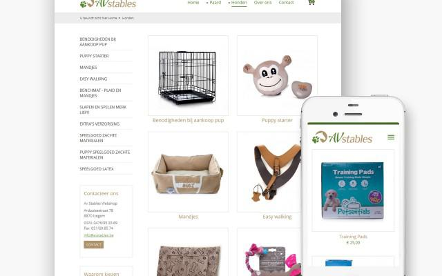 Lite pakket webwinkel voor Av Stables uit Izegem