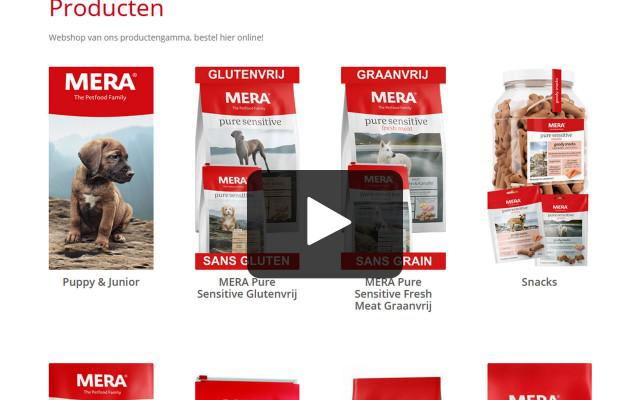 Instructiefilmpje hoe bestelling plaatsen op onze webshop Mera Petfood