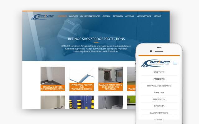 Website op maat voor Betinoc uit Duitsland